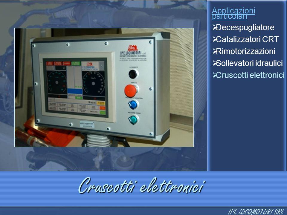 Cruscotti elettronici Applicazioni particolari  Decespugliatore  Catalizzatori CRT  Rimotorizzazioni  Sollevatori idraulici  Cruscotti elettronic