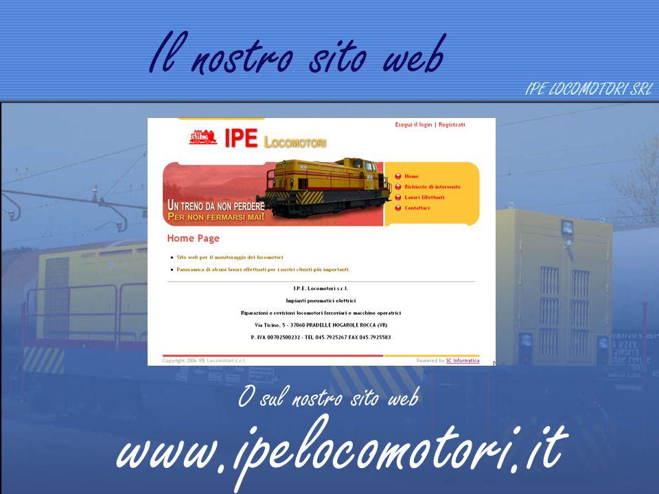Produzione Locomotori  2 assi  3 assi  3 assi a bielle  4 assi  4 assi interporto  6 assi Locomotori a 2 assi IPE LOCOMOTORI SRL