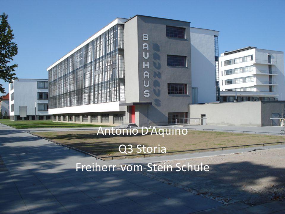Indice Informazioni generali Bauhaus Dessau Walter Gropius Movimento moderno Altri esempi del movimento moderno