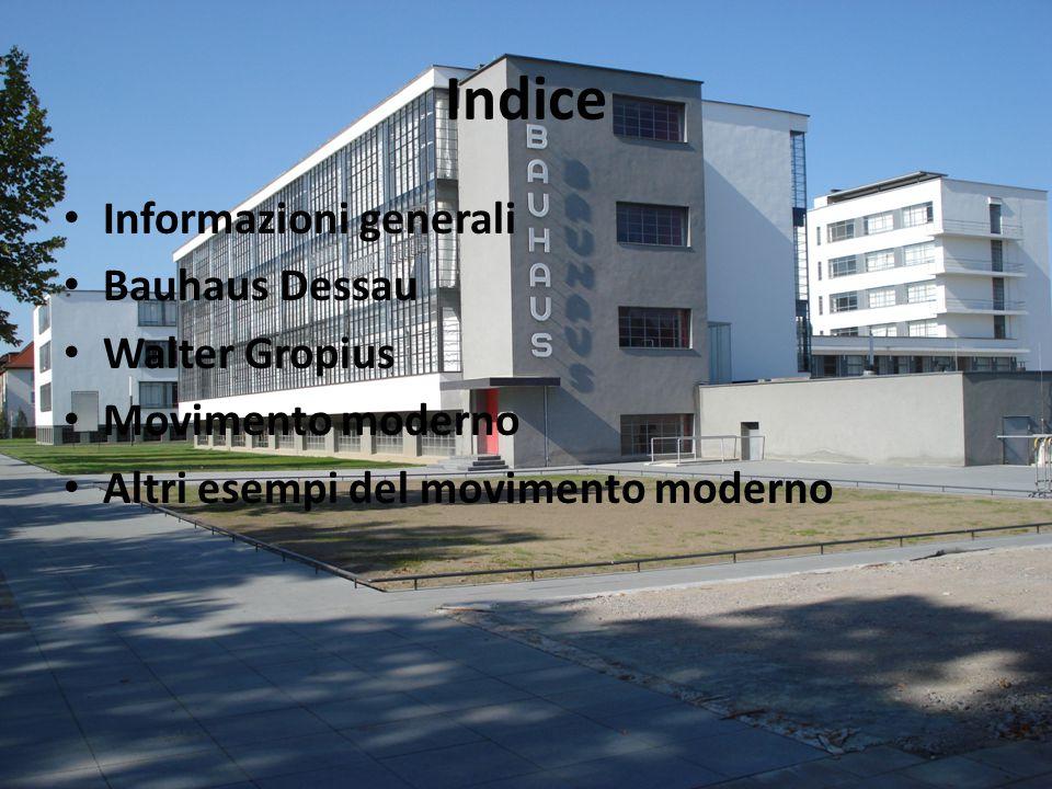 "Informazioni generali Bauhaus: abbreviazione di ""Staatliches Bauhaus Scuola di architettura, arte e design Weimar (1919), Dessau (1925-32)e Berlino (1933) Origini nel medievale ""Bauhütte  loggia dei muratori"