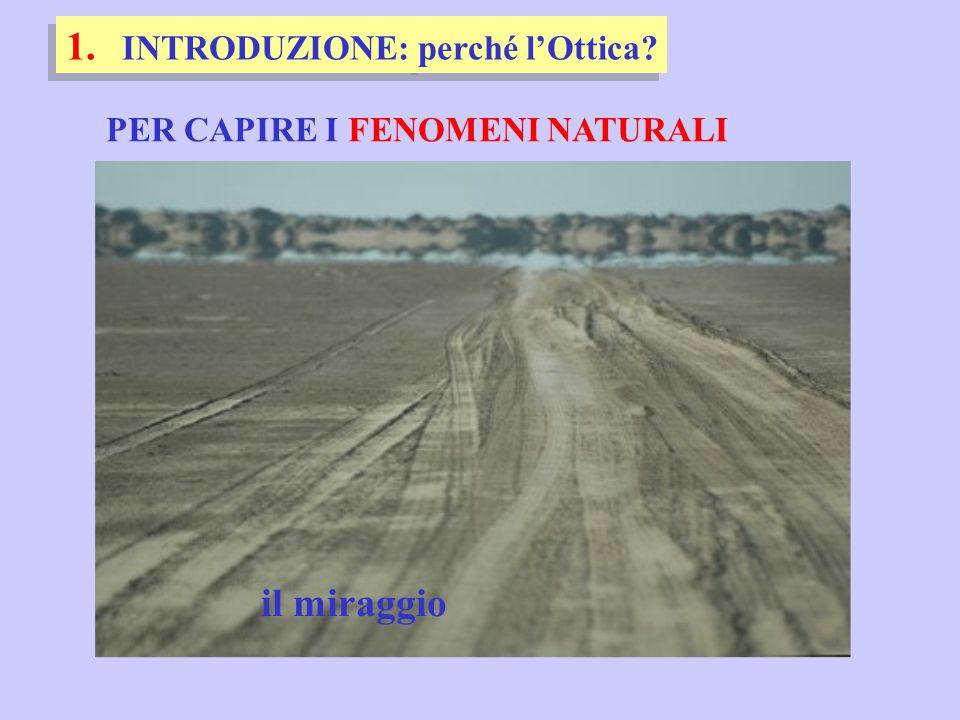 PER CAPIRE I FENOMENI NATURALI 1. INTRODUZIONE: perché l'Ottica? il miraggio