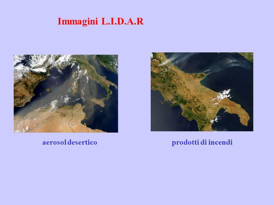 Immagini L.I.D.A.R aerosol desertico prodotti di incendi