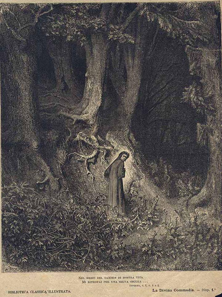 Dante, però, come gli uomini del suo tempo, secondo la teoria tolemaica (= la terra al centro dell'universo) se lo immagina un po' diverso.