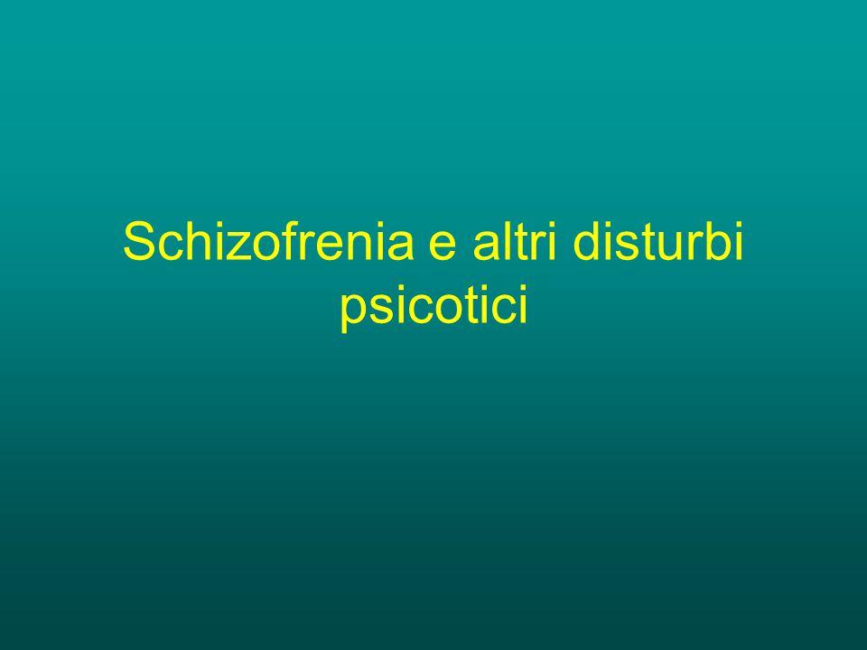 Psicosi Il termine psicotico indica la perdita del giudizio di realtà, di solito associato a allucinazioni, deliri e disturbi del pensiero.