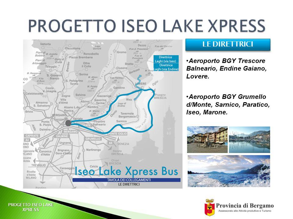 PROGETTO ISEO LAKE XPRESS Aeroporto BGY Trescore Balneario, Endine Gaiano, Lovere.