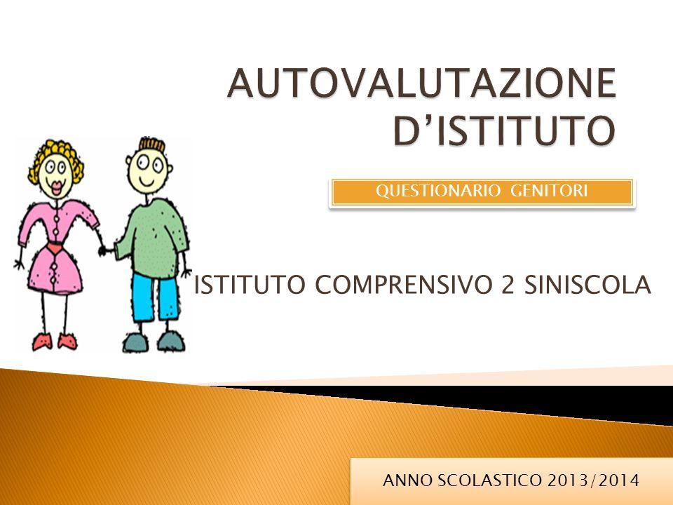 ISTITUTO COMPRENSIVO 2 SINISCOLA ANNO SCOLASTICO 2013/2014 QUESTIONARIO GENITORI