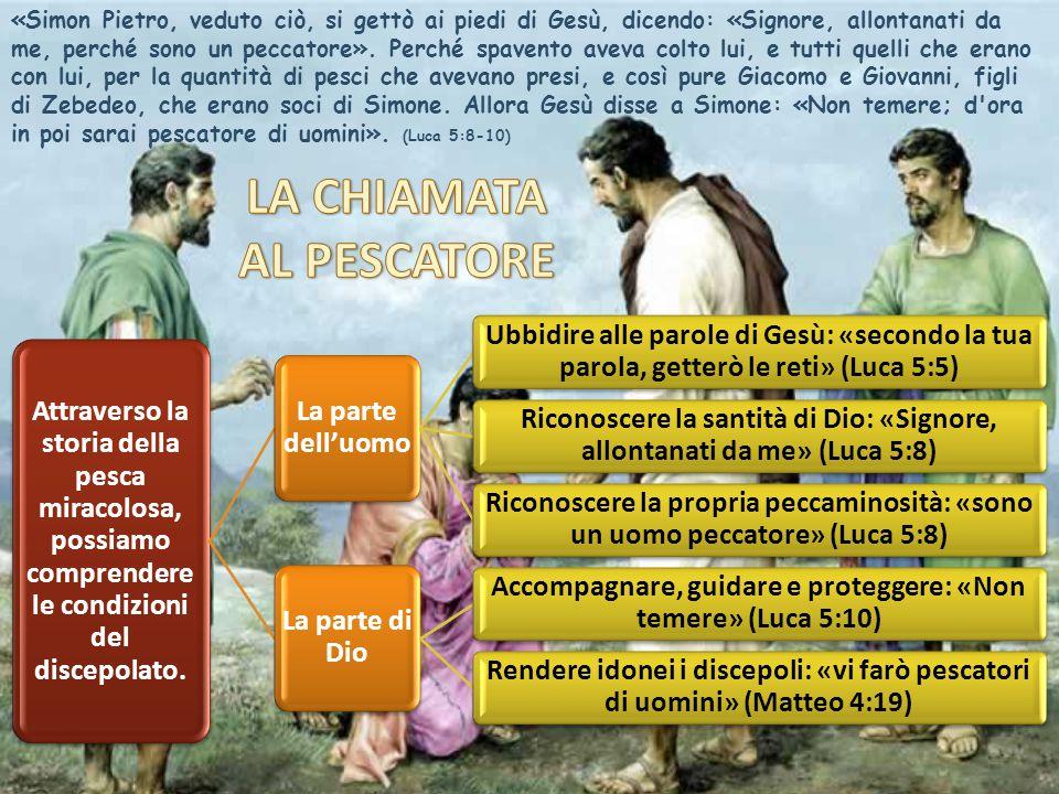 «Simon Pietro, veduto ciò, si gettò ai piedi di Gesù, dicendo: «Signore, allontanati da me, perché sono un peccatore».