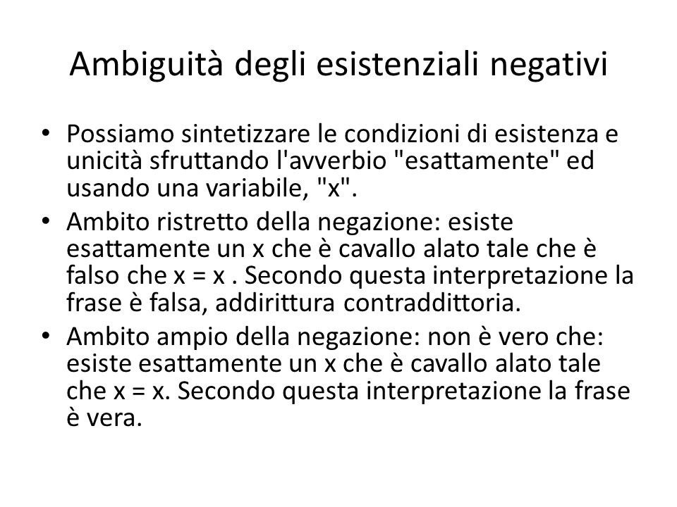 Legge del terzo escluso From Russell s On Denoting : By the law of excluded middle, either A is B or A is not B must be true.