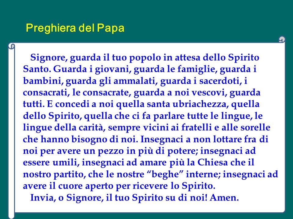 E così questo Simeone, che era coraggioso, ha inventato una liturgia , e lodava Dio, lodava… ed era lo Spirito che lo spingeva a fare questo.