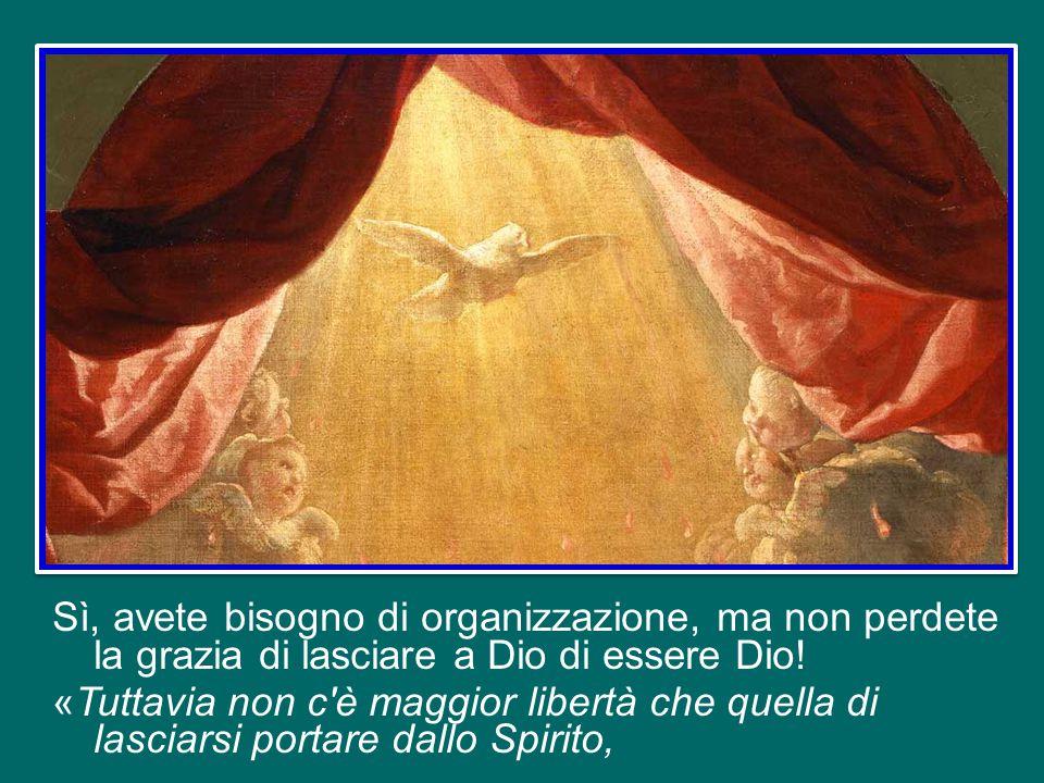 Voi, popolo di Dio, popolo del Rinnovamento Carismatico, state attenti a non perdere la libertà che lo Spirito Santo ci ha donato.