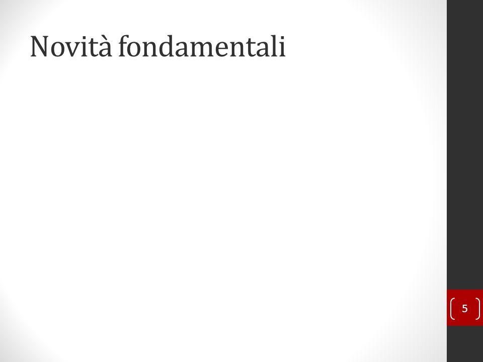 Novità fondamentali 5