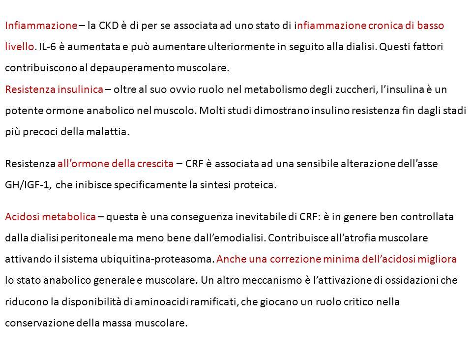 Infiammazione – la CKD è di per se associata ad uno stato di infiammazione cronica di basso livello.