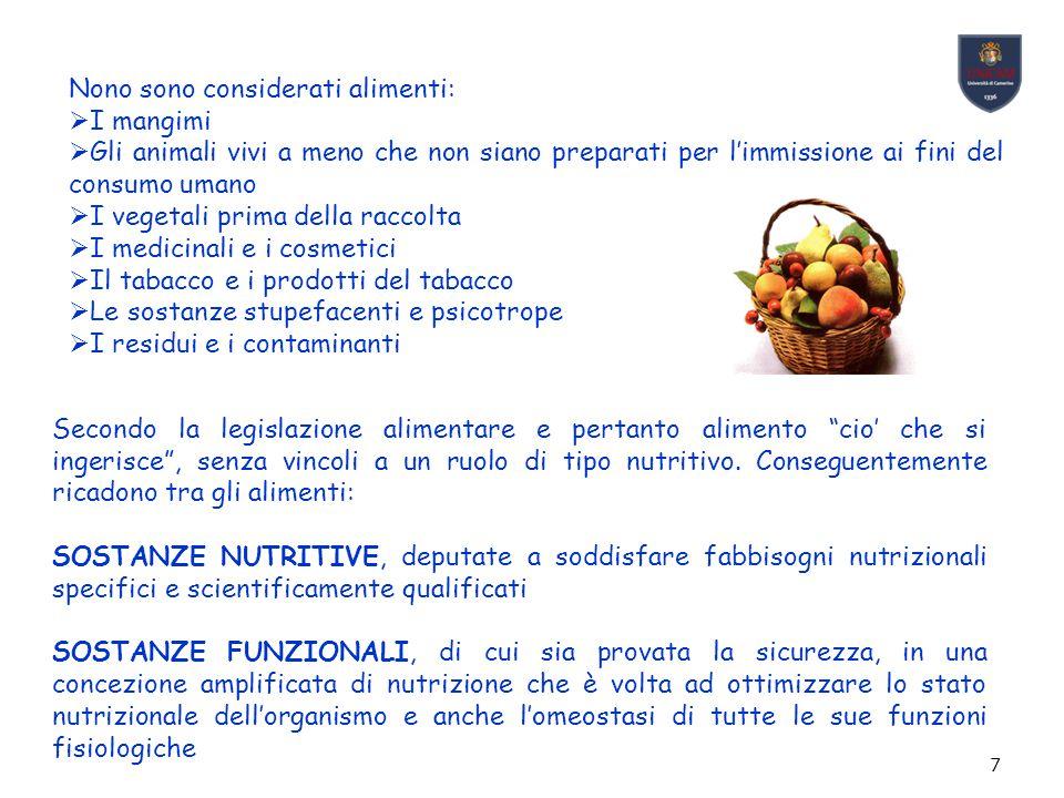 18 GENUINITA' Alimento genuino significa alimento naturale, schietto, non alterato.