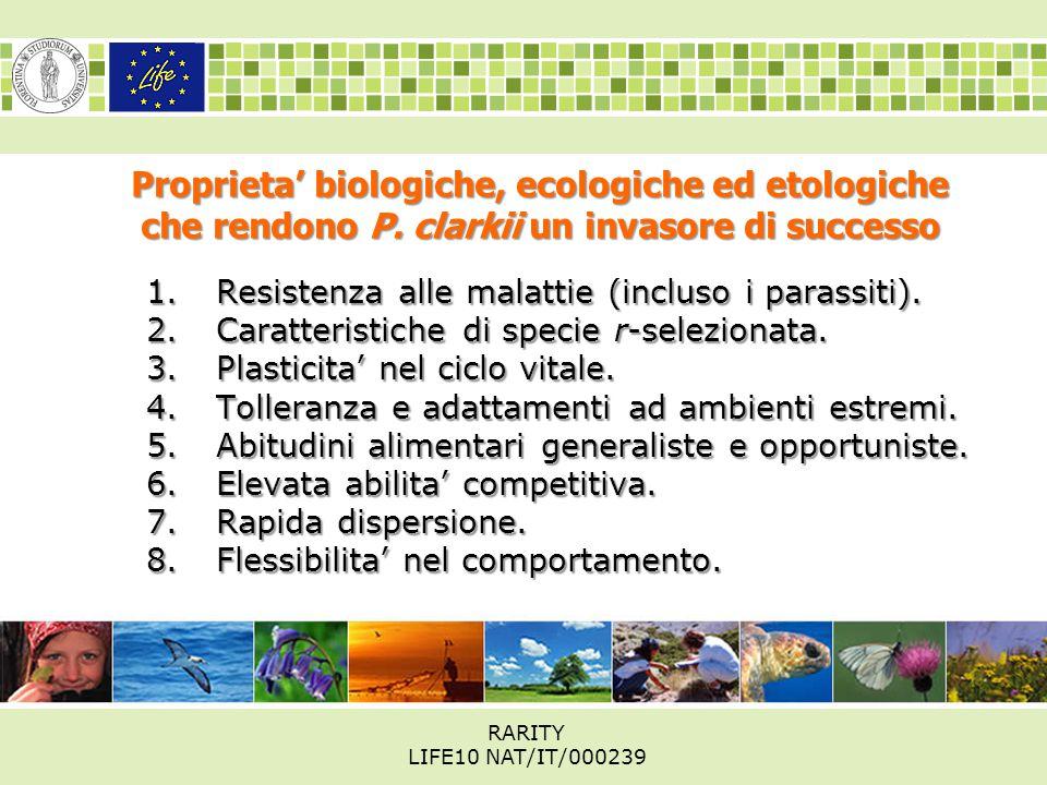 Proprieta' biologiche, ecologiche ed etologiche che rendono P.