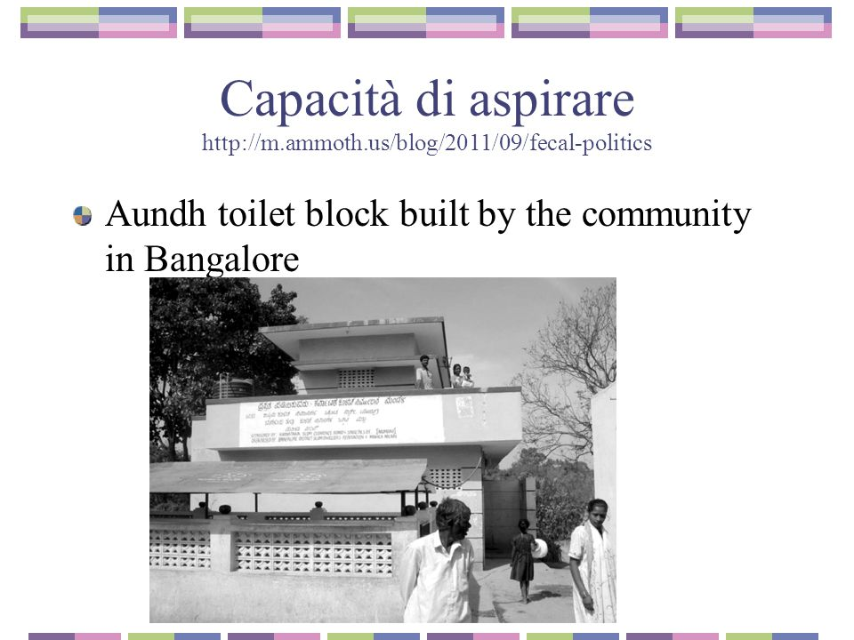 Capacità di aspirare http://m.ammoth.us/blog/2011/09/fecal-politics Aundh toilet block built by the community in Bangalore