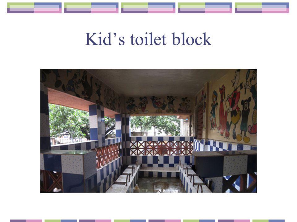 Kid's toilet block