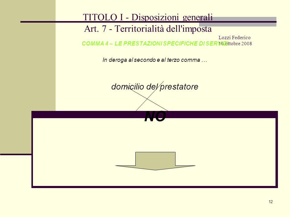 12 TITOLO I - Disposizioni generali Art.