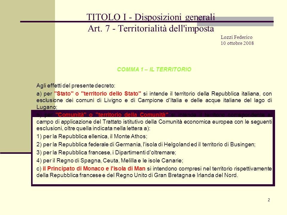 13 TITOLO I - Disposizioni generali Art.