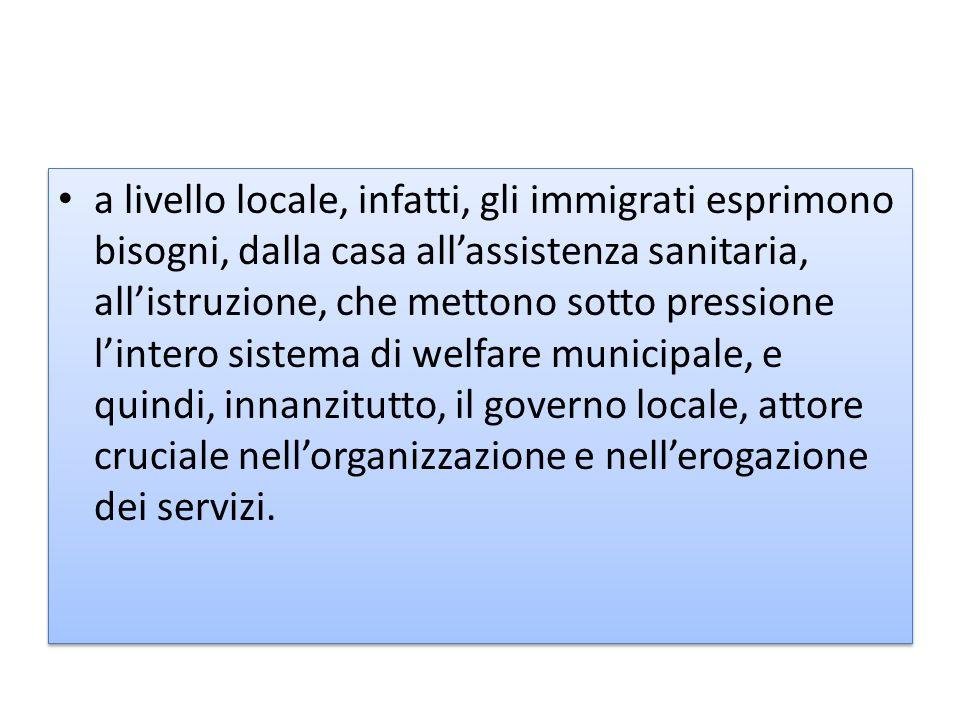 servizi di accoglienza e assistenza (legge 30 luglio 2002, n.