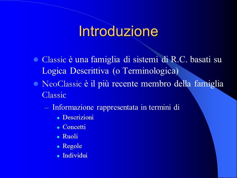Introduzione Classic è una famiglia di sistemi di R.C.