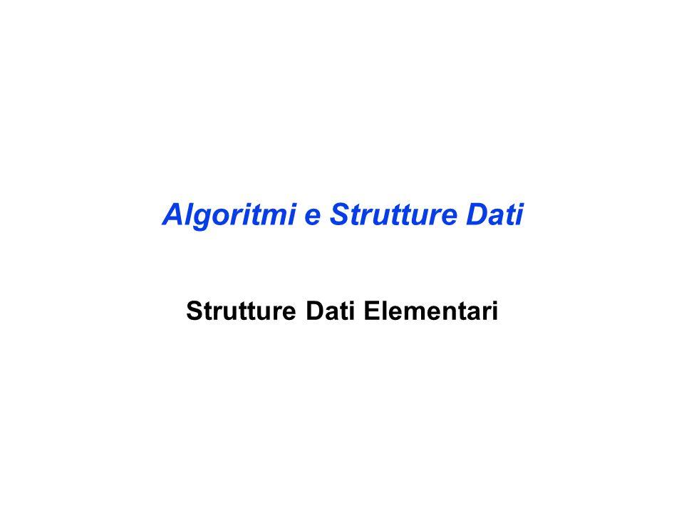 Algoritmi e Strutture Dati Strutture Dati Elementari