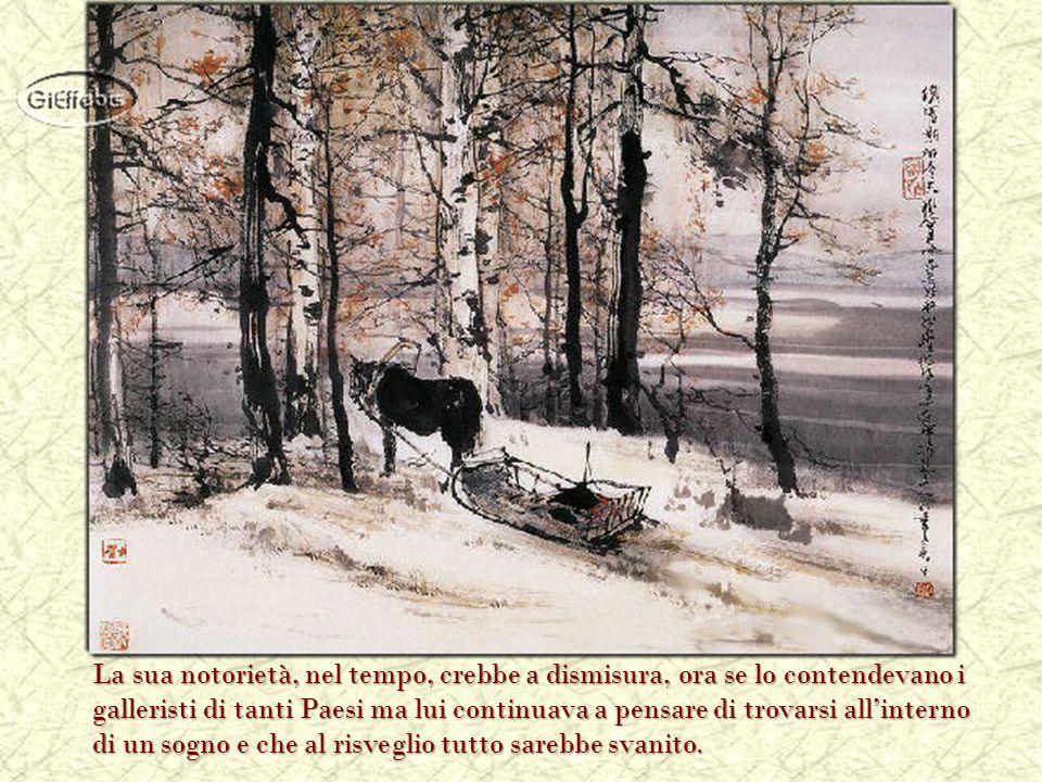 La sua era una pittura istintiva che, dagli esordi timidi e incerti, assunse poco a poco le sembianze dell'arte.