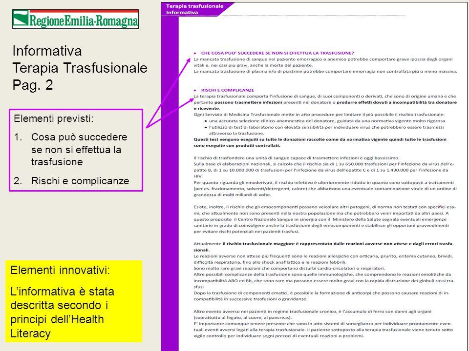 Informativa Terapia Trasfusionale Pag.