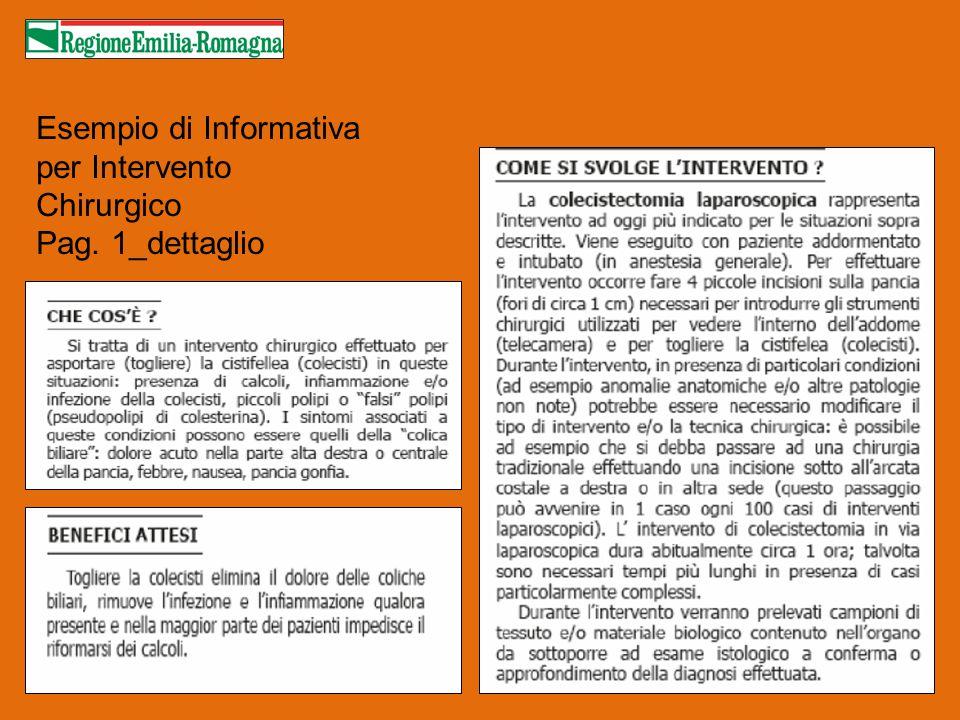Esempio di Informativa per Intervento Chirurgico Pag. 1_dettaglio