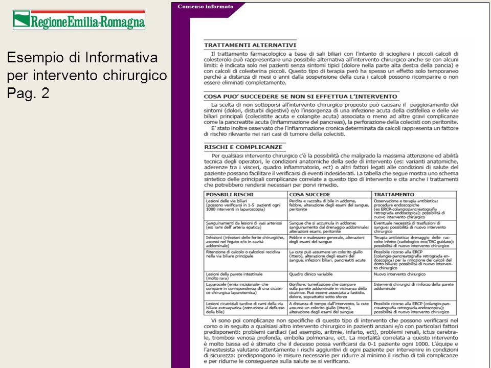 Esempio di Informativa per intervento chirurgico Pag. 3