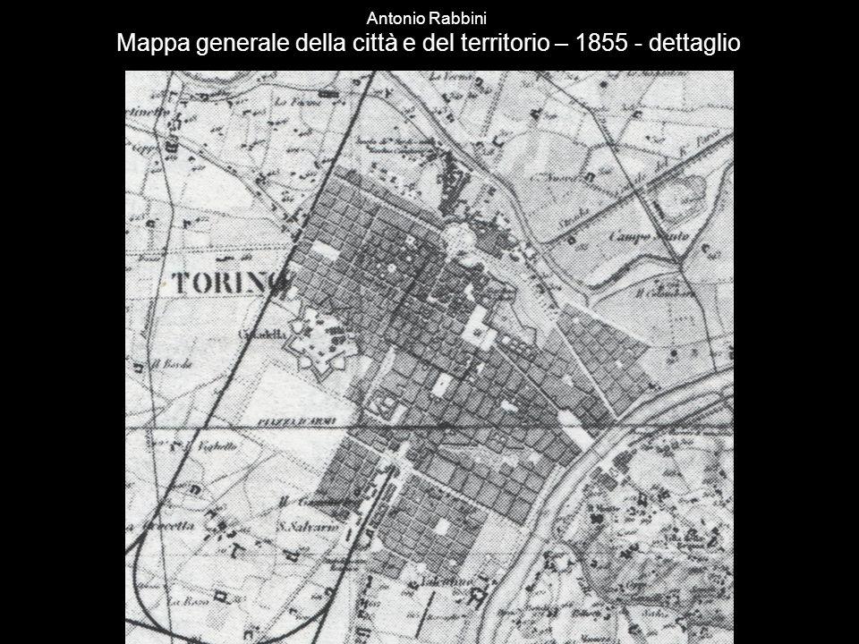 Antonio Rabbini Mappa generale della città e del territorio – 1855 - dettaglio