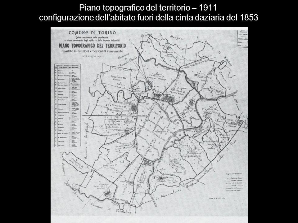 Piano topografico del territorio – 1911 configurazione dell'abitato fuori della cinta daziaria del 1853