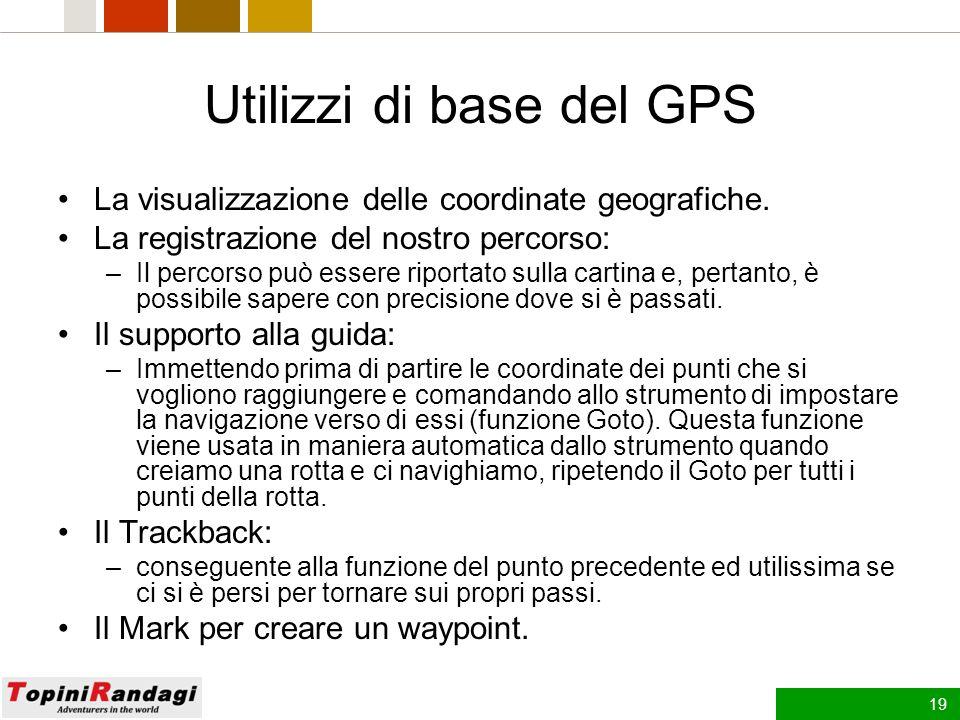 18 Lo strumento GPS