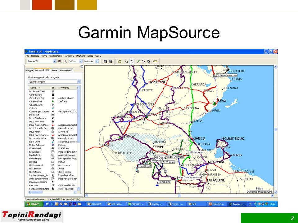 12 Creazione e utilizzo di gruppi di mappe Per gruppo di mappe si intende una mappa o una serie di mappe di area selezionate dalla mappa grafica che si desidera salvare nell unità GPS Garmin.