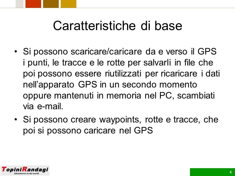 3 Generalità La Garmin, per i suoi GPS cartografici, fornisce sia il sw che consente di caricare cartografia aggiuntiva nei GPS (MapSource di seguito descritto e Basecamp), sia la cartografia vettoriale vera e propria, limitata alla rete stradale e ferroviaria, ai laghi, fiumi e mari.