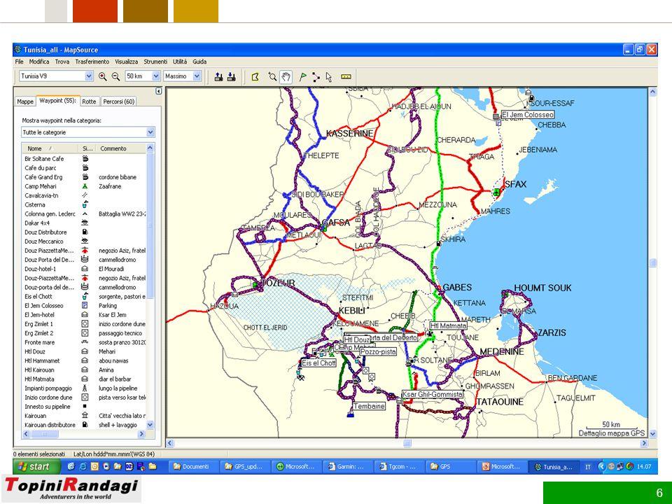 5 Definizioni Mappa –Un insieme di oggetti (elementi grafici, dati, informazioni) che rappresenta una porzione di territorio.