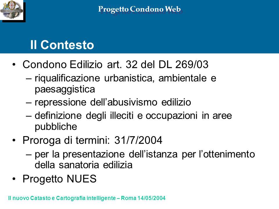Progetto Condono Web Il Contesto Condono Edilizio art.