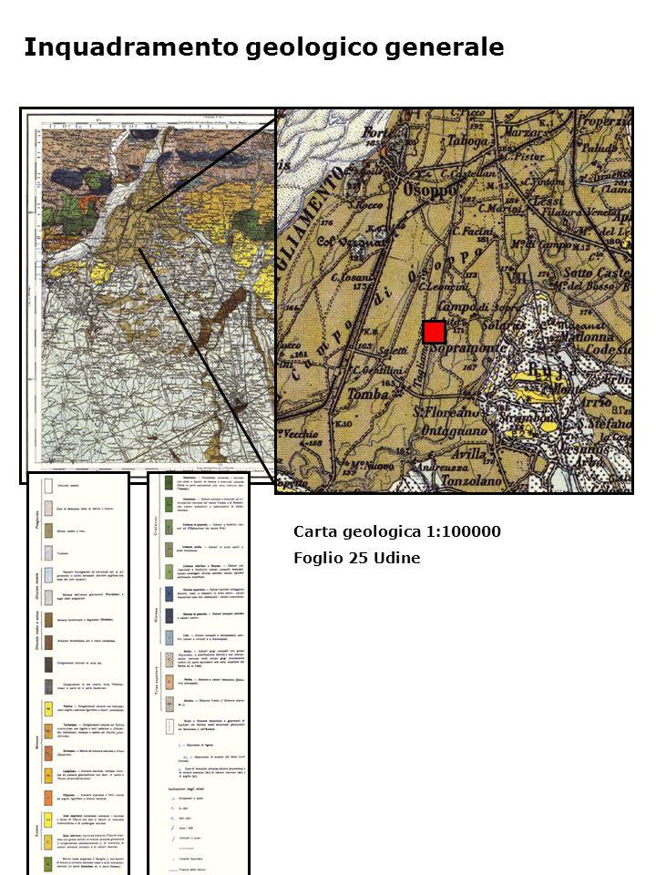 Inquadramento geologico generale Carta geologica 1:100000 Foglio 25 Udine