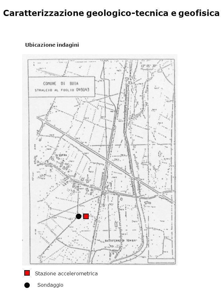 Caratterizzazione geologico-tecnica e geofisica Ubicazione indagini Stazione accelerometrica Sondaggio