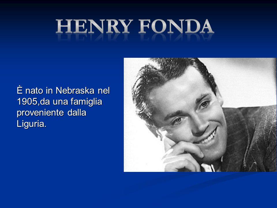 È nato in Nebraska nel 1905,da una famiglia proveniente dalla Liguria.