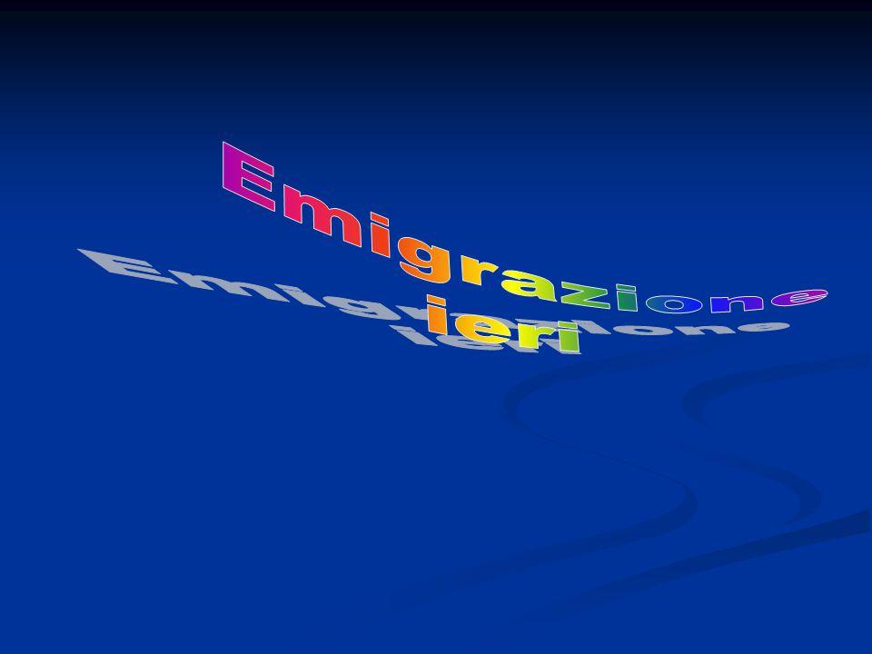 l'emigrazione italiana all'estero La grande emigrazione degli italiani verso gli altri paesi è cominciata tra il Tra il 1870 e il 1880.