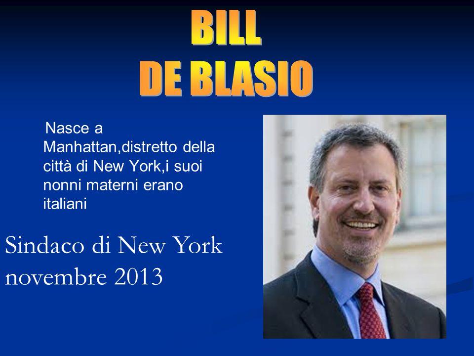 Nasce a Manhattan,distretto della città di New York,i suoi nonni materni erano italiani Sindaco di New York novembre 2013