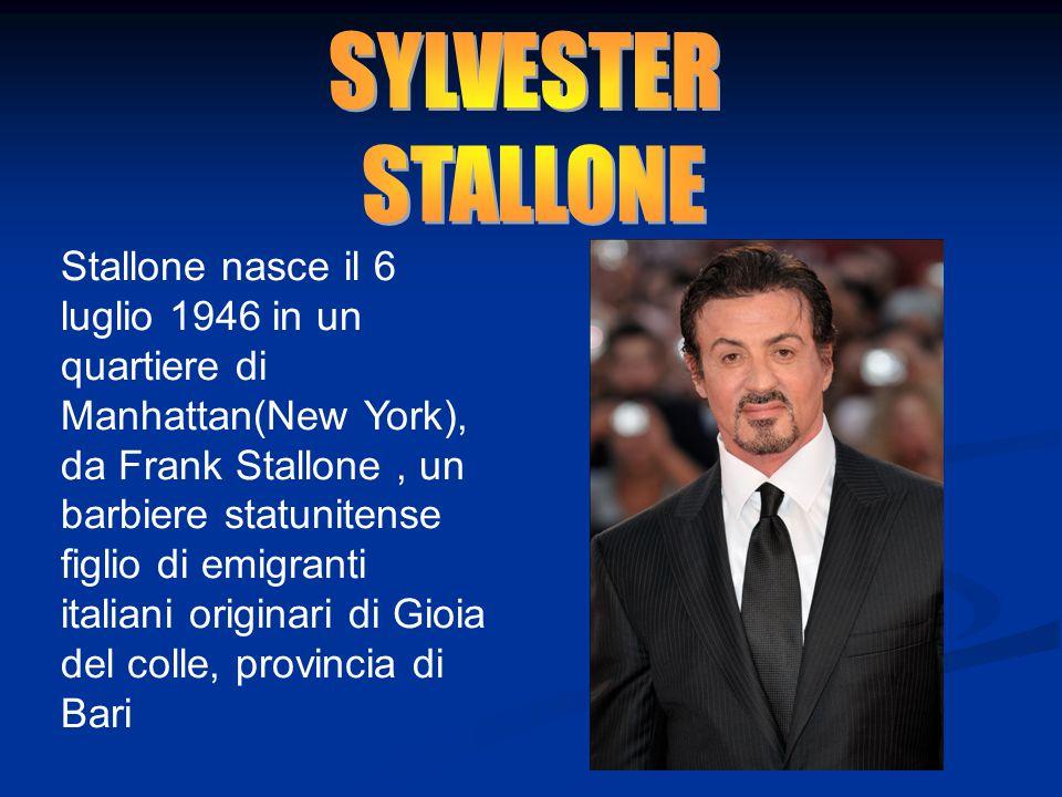 Stallone nasce il 6 luglio 1946 in un quartiere di Manhattan(New York), da Frank Stallone, un barbiere statunitense figlio di emigranti italiani origi