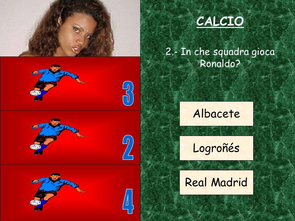 CALCIO 1.- Da quanti giocatori è formata una squadra di calcio 5 7 11