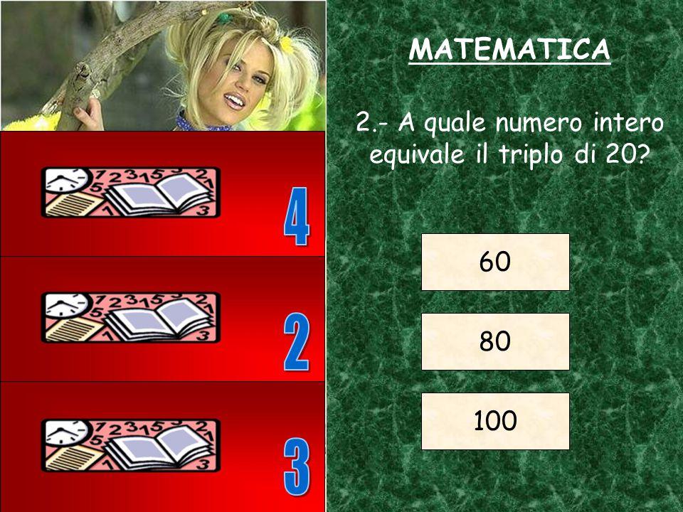 1.- Calcola il risultato della seguente operazione. (3+2)x5 = = 7 = 25 = 30