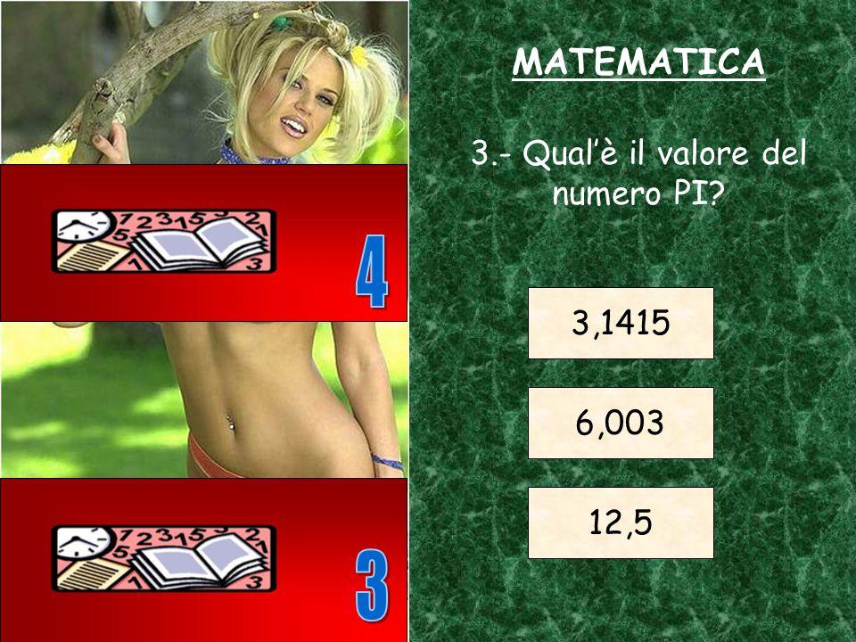 MATEMATICA 2.- A quale numero intero equivale il triplo di 20 60 80 100