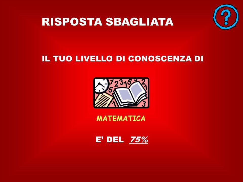 MATEMATICA 4.- Qual'è il logaritmo di 72 - 88,374 3,555 125,91