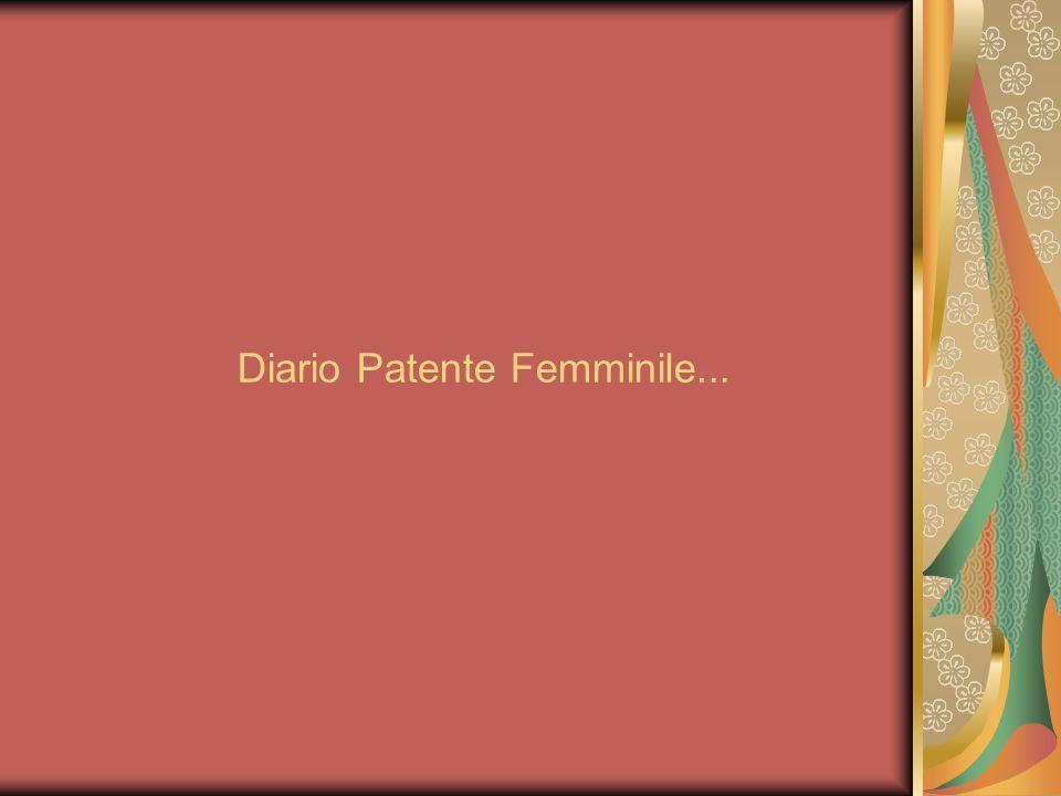 Diario Patente Femminile...