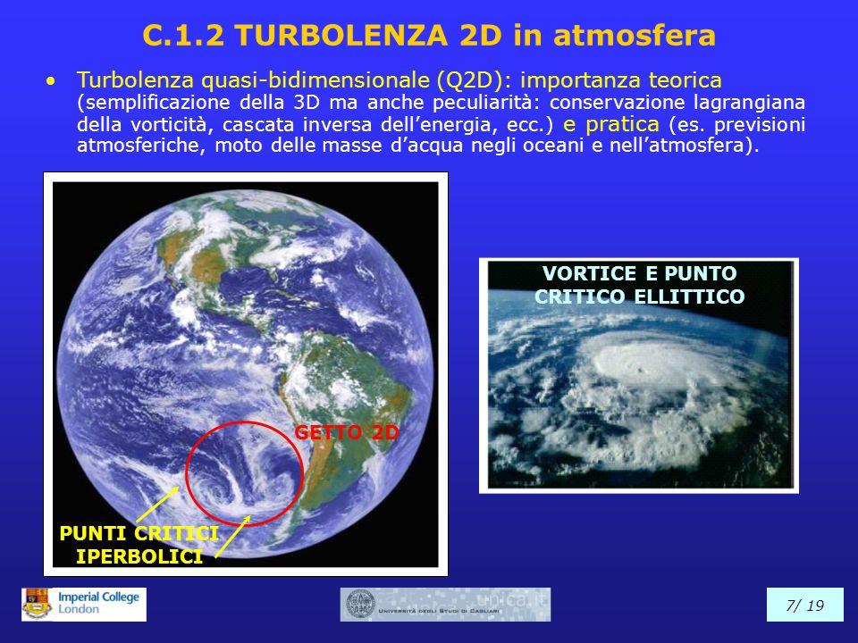 Turbolenza quasi-bidimensionale (Q2D): importanza teorica (semplificazione della 3D ma anche peculiarità: conservazione lagrangiana della vorticità, c