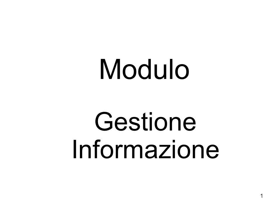 1 Modulo Gestione Informazione