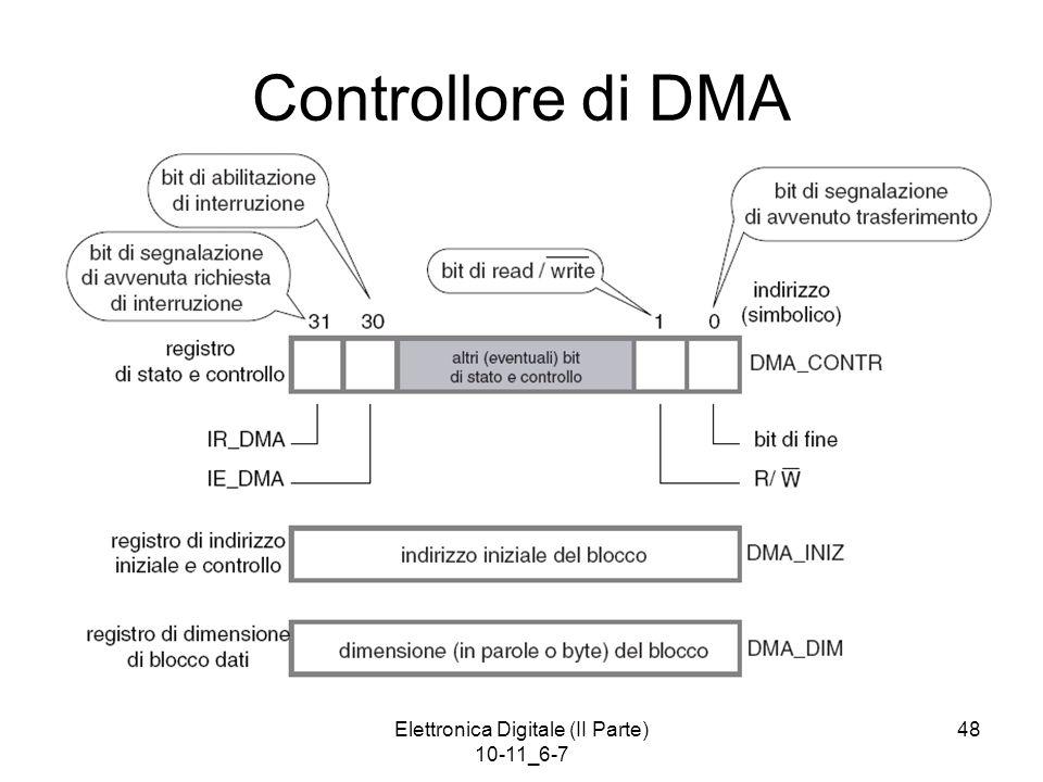Elettronica Digitale (II Parte) 10-11_6-7 48 Controllore di DMA